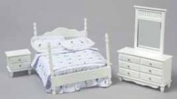 WHITE DOUBLE BEDROOM SET 3PC