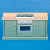 GREEN UNIT WITH OVEN & RANGE