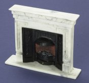 "Dollhouse Miniature 1/12 scale ""MARBLE"" FIREPLACE"