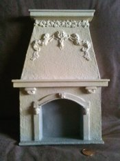 Dollhouse Miniature 1/12 scale OLD FASHION FIREPLACE