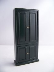 DARK GREEN DOUBLE CUPBOARD
