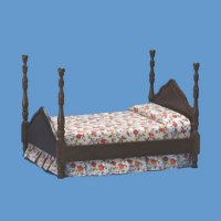 """cannonball"" four-poster bed"