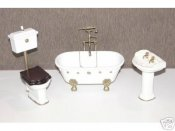 Dollhouse Miniature 1/12 scale BATHROOM SET