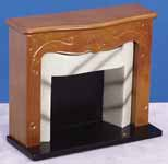 Dollhouse Miniature 1/12 scale FIREPLACE WITH MARBLE